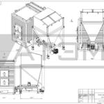 Чертеж общего вида водогрейного котла на щепе КВм-0,3Д