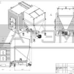 Чертеж общего вида водогрейного котла на щепе КВм-0,6Д