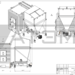 Чертеж общего вида водогрейного котла на щепе КВм-0,8Д